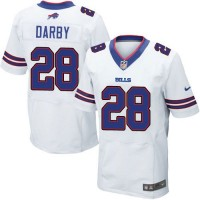 Nike Bills #28 Ronald Darby White Men's Stitched NFL New Elite Jersey