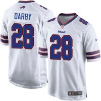 Nike Bills #28 Ronald Darby White Youth Stitched NFL Elite Jersey
