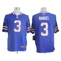Nike Bills #3 EJ Manuel Royal Blue Team Color Men's Stitched NFL Game Jersey