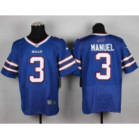 Nike Bills #3 EJ Manuel Royal Blue Team Color Men's Stitched NFL New Elite Jersey