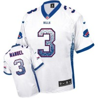 Nike Bills #3 EJ Manuel White Men's Stitched NFL Elite Drift Fashion Jersey
