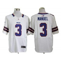 Nike Bills #3 EJ Manuel White Men's Stitched NFL Elite Jersey