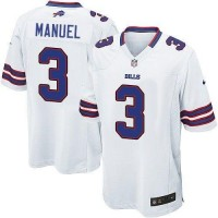 Nike Bills #3 EJ Manuel White Men's Stitched NFL Game Jersey