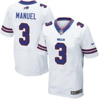 Nike Bills #3 EJ Manuel White Men's Stitched NFL New Elite Jersey