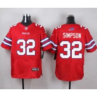 Nike Bills #32 O. J. Simpson Red Men's Stitched NFL Elite Rush Jersey