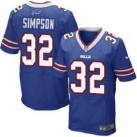 Nike Bills #32 O. J. Simpson Royal Blue Team Color Men's Stitched NFL New Elite Jersey