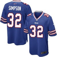 Nike Bills #32 O. J. Simpson Royal Blue Team Color Youth Stitched NFL New Elite Jersey