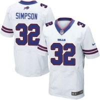 Nike Bills #32 O. J. Simpson White Men's Stitched NFL New Elite Jersey