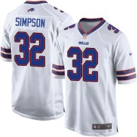 Nike Bills #32 O. J. Simpson White Youth Stitched NFL New Elite Jersey