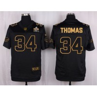Nike Bills #34 Thurman Thomas Black Men's Stitched NFL Elite Pro Line Gold Collection Jersey