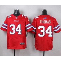 Nike Bills #34 Thurman Thomas Red Men's Stitched NFL Elite Rush Jersey