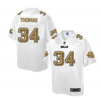 Nike Bills #34 Thurman Thomas White Men's NFL Pro Line Fashion Game Jersey