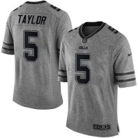 Nike Bills #5 Tyrod Taylor Gray Men's Stitched NFL Limited Gridiron Gray Jersey