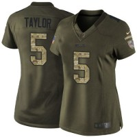 Nike Bills #5 Tyrod Taylor Green Women's Stitched NFL Limited Salute to Service Jersey