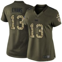 Nike Buccaneers #13 Mike Evans Green Women's Stitched NFL Limited Salute to Service Jersey
