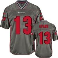 Nike Buccaneers #13 Mike Evans Grey Men's Stitched NFL Elite Vapor Jersey