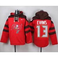 Nike Buccaneers #13 Mike Evans Red Player Pullover NFL Hoodie