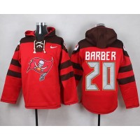 Nike Buccaneers #20 Ronde Barber Red Player Pullover NFL Hoodie