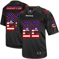 Nike Buccaneers #22 Doug Martin Black Men's Stitched NFL Elite USA Flag Fashion Jersey