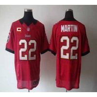 Nike Buccaneers #22 Doug Martin Red Team Color With C Patch Men's Stitched NFL Elite Jersey
