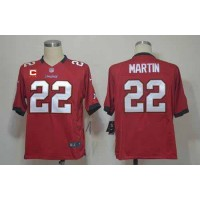 Nike Buccaneers #22 Doug Martin Red Team Color With C Patch Men's Stitched NFL Game Jersey