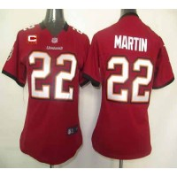 Nike Buccaneers #22 Doug Martin Red Team Color With C Patch Women's Stitched NFL Elite Jersey