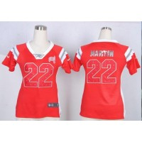 Nike Buccaneers #22 Doug Martin Red Team Color Women's Stitched NFL Elite Draft Him Shimmer Jersey