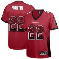 Nike Buccaneers #22 Doug Martin Red Team Color Women's Stitched NFL Elite Drift Fashion Jersey