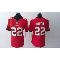 Nike Buccaneers #22 Doug Martin Red Team Color Women's Stitched NFL Limited Jersey