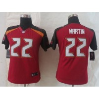 Nike Buccaneers #22 Doug Martin Red Team Color Women's Stitched NFL New Limited Jersey