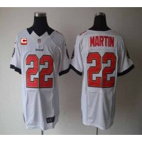 Nike Buccaneers #22 Doug Martin White With C Patch Men's Stitched NFL Elite Jersey