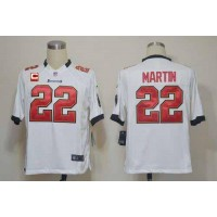 Nike Buccaneers #22 Doug Martin White With C Patch Men's Stitched NFL Game Jersey