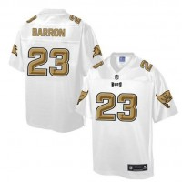 Nike Buccaneers #23 Mark Barron White Men's NFL Pro Line Fashion Game Jersey
