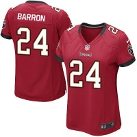 Nike Buccaneers #24 Mark Barron Red Team Color Women's Stitched NFL Elite Jersey
