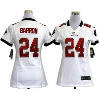 Nike Buccaneers #24 Mark Barron White Women's Stitched NFL Elite Jersey
