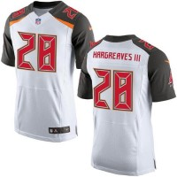 Nike Buccaneers #28 Vernon Hargreaves III White Men's Stitched NFL New Elite Jersey