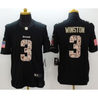 Nike Buccaneers #3 Jameis Winston Black Men's Stitched NFL Limited Salute to Service Jersey