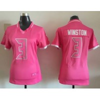 Nike Buccaneers #3 Jameis Winston Pink Women's Stitched NFL Elite Bubble Gum Jersey
