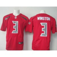 Nike Buccaneers #3 Jameis Winston Red Men's Stitched NFL Limited Rush Jersey