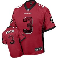 Nike Buccaneers #3 Jameis Winston Red Team Color Men's Stitched NFL Elite Drift Fashion Jersey