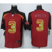 Nike Buccaneers #3 Jameis Winston Red Team Color Men's Stitched NFL Limited Strobe Jersey