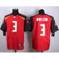 Nike Buccaneers #3 Jameis Winston Red Team Color Men's Stitched NFL New Elite Jersey