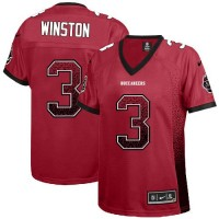 Nike Buccaneers #3 Jameis Winston Red Team Color Women's Stitched NFL Elite Drift Fashion Jersey