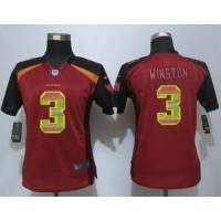 Nike Buccaneers #3 Jameis Winston Red Team Color Women's Stitched NFL Elite Strobe Jersey
