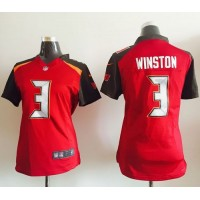 Nike Buccaneers #3 Jameis Winston Red Team Color Women's Stitched NFL New Elite Jersey