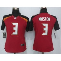 Nike Buccaneers #3 Jameis Winston Red Team Color Women's Stitched NFL New Limited Jersey