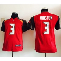 Nike Buccaneers #3 Jameis Winston Red Team Color Youth Stitched NFL New Elite Jersey
