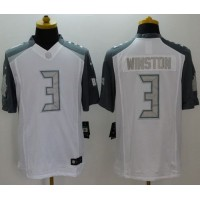 Nike Buccaneers #3 Jameis Winston White Men's Stitched NFL Limited Platinum Jersey