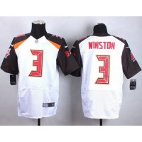 Nike Buccaneers #3 Jameis Winston White Men's Stitched NFL New Elite Jersey
