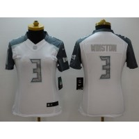 Nike Buccaneers #3 Jameis Winston White Women's Stitched NFL Limited Platinum Jersey